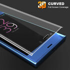FULL CURVED EDGE 3D TEMPERED GLASS SCREEN PROTECTOR for Sony Xperia X XZ XA2 XP