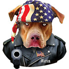 Murica Pit Bull Size 4 X Large to 10 X Large Muscle Sleeveless T-Shirt