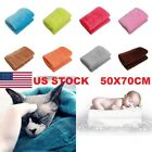 US hot Super Soft Solid Warm Micro Plush Fleece Blanket Throw Rug Sofa Bedding image