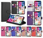 Real Genuine Leather Flip Wallet Slim Case Cover For New iPhone 6 7 8 5 SE Plus