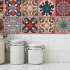 5Pcs Morocco Style Stencil Wall Stickers Kitchen Adhesive Tile Home Decoration