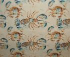 Voyage Decoration Lobster Nautical Fabric - Curtain Upholstery Cushion Blinds