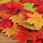 100pcs Fall Silk Leaves Wedding Favor Autumn Maple Leaf Decorations Ornament UK