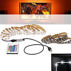 USB 5V 5050 60SMD/M RGB LED Strip Light Bar TV Back Lighting Kit + Remote ST-204