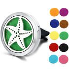 Car Vent Clip Essential Oil Diffuser Aromatherapy 316L Steel Locket Free 10Pads