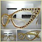 Womens Classy Elegant Retro CAT EYE READING EYE GLASSES READERS Bling Nude Frame