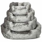 Bellagio Crushed Velvet Dog Bed Soft Washable Fleece Cushion Warm Luxury Pet