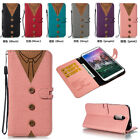 Matching Color Wallet ID Card Stand Flip Leather Case For Apple/LG/Sony/Huawei