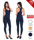 Women's Seamless  Bodysuit Skin-Fit Full Body Leotard
