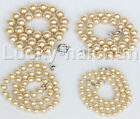 """18"""" 8mm 10mm 12mm 14mm champagne yellow south sea shell pearls necklace j12725"""