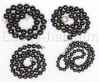 """18"""" 8mm 10mm 12mm 14mm black south sea shell pearls necklace 18KGP clasp j12743"""