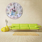 Vintage Style Non-Ticking Silent Antique Wood Wall Clock for Home Kitchen N1