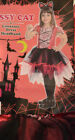 Girl's Halloween Sassy Cat 2 Pc Costume Outfit Dress Sz S(4-6),M(8-10), L(10-12)