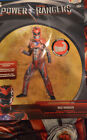 Boy's Power Rangers Red 2 Pc Muscle Halloween Costume Outfit Sz M(8-10),L(10-12)