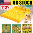Yellow Automatic Incubator 63 Quail Duck Egg Chicken Bird Turner Tray 110V Motor