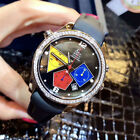 Jacob&Co 40mm Steel Colorful Geometric Diamond Automatic Watch Red/Black/White