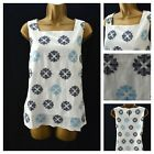 NEW WHITE STUFF TOP TUNIC EMBROIDERED WHITE IVORY BLUE GREY COTTON 8 - 16
