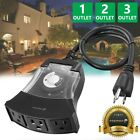 Внешний вид - [ETL Listed] 24Hour Outdoor 1 2 3 Outlet Timer Waterproof Automatic Switch Light