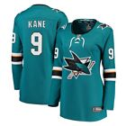 Fanatics Branded Evander Kane San Jose Sharks Womens Teal Breakaway Jersey