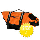 DOG LIFE JACKET ORANGE PET PFD SAFETY VEST - AQUATRACK BUOYANCY FLOTATION AID