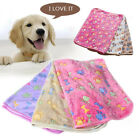 Pet Paw Print Bone Dog Cat Hamster Puppy Soft Blanket Coral Cashmere Bed Cushion