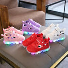 2018Toddler Baby LED Light Shoes Boys Soft Luminous Outdoor Sport Shoes Sneakers