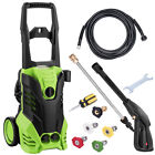 3000 PSI Electric Pressure Washer w/ Hose Reel & Detergent Tank 5 Nozzle Adapter