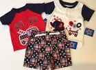 NWT Boy's Lot Set July 4th Top Shorts Romper Red, White, Blue 0-3, 6-9 Months