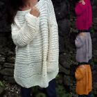 Womens O-Neck Long Sleeve Sweater Turtleneck Knitted Pullover Loose BlouseTops
