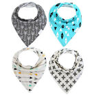 4Pcs Infant Baby Bibs Saliva Towel Dribble Bandana Feeding Apron Triangles Set O