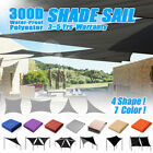 Outdoor Garden Waterproof 300D Sun Shade Sail Canopy Patio Cover UV Block Colors