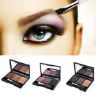 3 Color Eye Shadow Tint Eyebrow Powder Palette Mirror Box +
