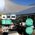 300D Sun Shade Sail Outdoor Garden Waterproof Awning Canopy Patio Cover UV Block