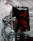 30ct *Garnet* Art Deco 1930s Sterling Silver Filigree Ring Size {Made To Order}