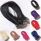 10pc Leather Braid Rope Cord Lobster Clasp Chain Necklace Jewelry Accessory 46cm