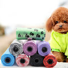1/5Roll Pet Cat Dog Waste Cleaning Poop Bag Claw Print Picking Degradable Bag