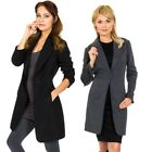 Внешний вид - Alpine Swiss Stella Women's Wool Single Button Overcoat 7/8 Length Jacket Blazer