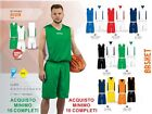 Completo Basket DOUBLE FACE SPORTIKA SET ASSEN Reversible Tamaños NIÑO ADULTO