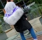 Womens Hooded Real Mink Fur Real Fox Fur Lined Jacket Outwear Leisure Snow Coat