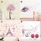 Romance Removable Butterfly Paris Eiffeltower Home Room Wall Sticker Decal Decor