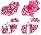 Infant Newborn Baby Hot Pink and White Wavy Stripes Bloomer Pantie  Bow 6m-3Y