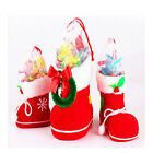 Xmas Santa Boots Socks Candy For Kids Flocking Christmas Tree Decor Gift Bag S
