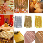 Sequin Table Runner Tablecloth Gold Wedding Birthday Party Decorations 12''x72''