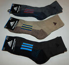 Adidas Men's Climalite Cushioned Mid Crew Socks NEW 2 Pack Size 6-12