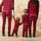 Christmas Family Matching Pajamas Set Adult Mens Women Kids Sleepwear Nightwear