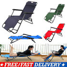 Folding Sun Outdoor Lounger Reclining Garden Beach Reclining Chair Patio Deck Uk