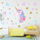 Colorful Unicorn Vinyl Wall Stickers Kids Bedroom Playroom Decal Home Room Decor