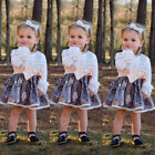 Newborn Toddler Baby Girl Stripe Floral Top Romper Skirt Dress Outfit Clothes US <br/> ❤CHRISTMAS GIFT❤US STOCK ❤FAST DELIVERY❤HIGH QUALITY