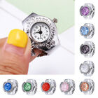 Fashion Women Jewelry Round Finger Ring Watch Stone Steel Elastic Band Watches image