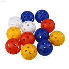 50pcs Hollow Plastic Practice Golf Balls Golf Wiffle Balls Air Flow Practice 4CM
